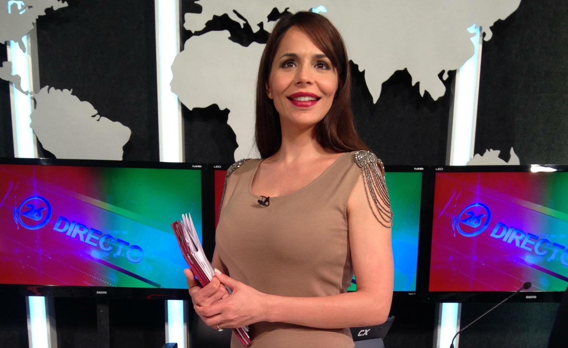 Cada mañana Melisa Zurita presenta las noticias en Canal 26