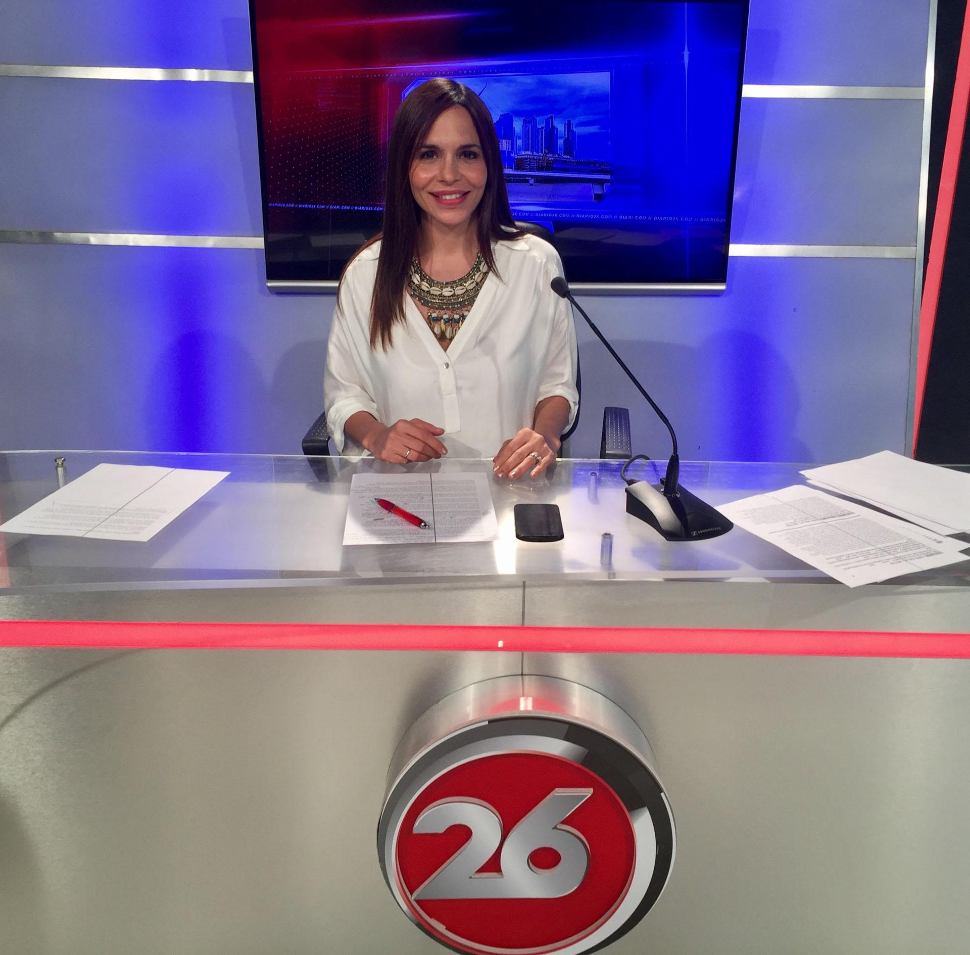 Melisa comenzó su carrera como productora y cronista y luego llegó a la conducción del noticiero