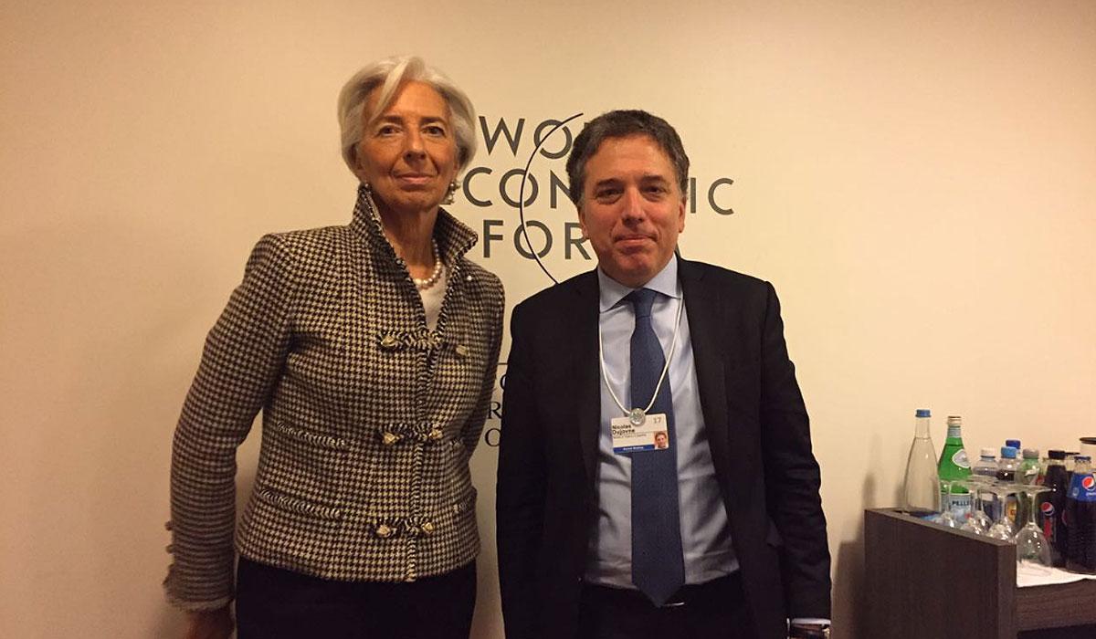 Christine Lagarde, directora gerente del FMI, junto al ministro Nicolás Dujovne, volverán a verse, ahora en Washington