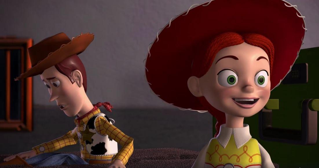 Jessie con Woody, en Toy Story 2