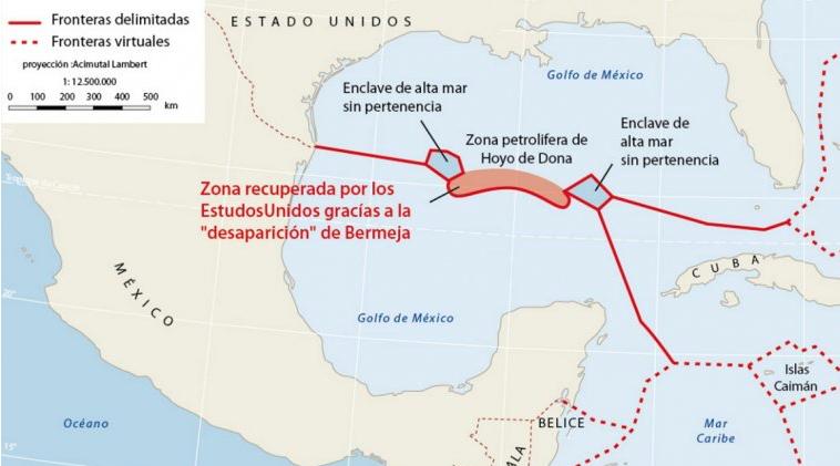 Zona petrolífera que se disputaban los gobiernos de Cuba y EEUU.