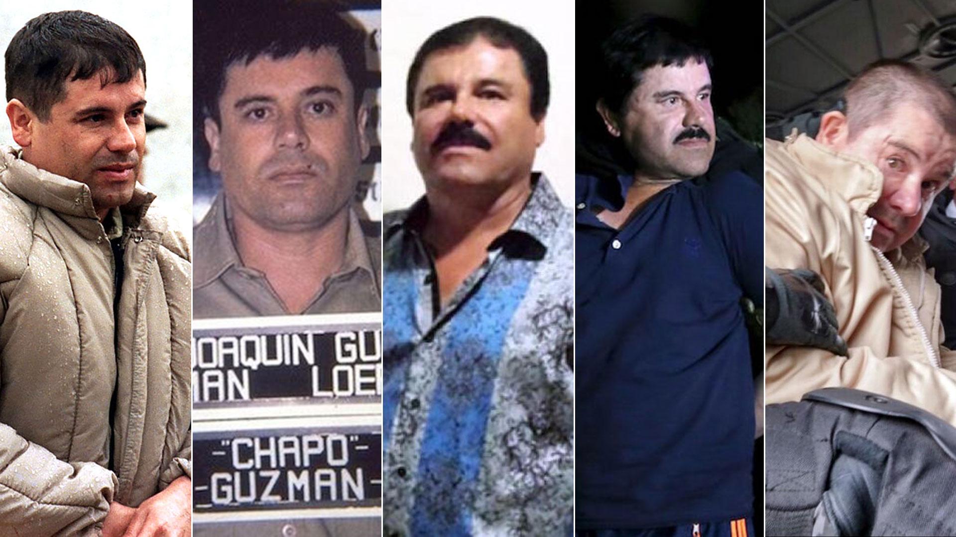 """La transformación de """"El Chapo"""" Guzmán a lo largo de su vida criminal como jefe narco del Cártel de Sinaloa"""