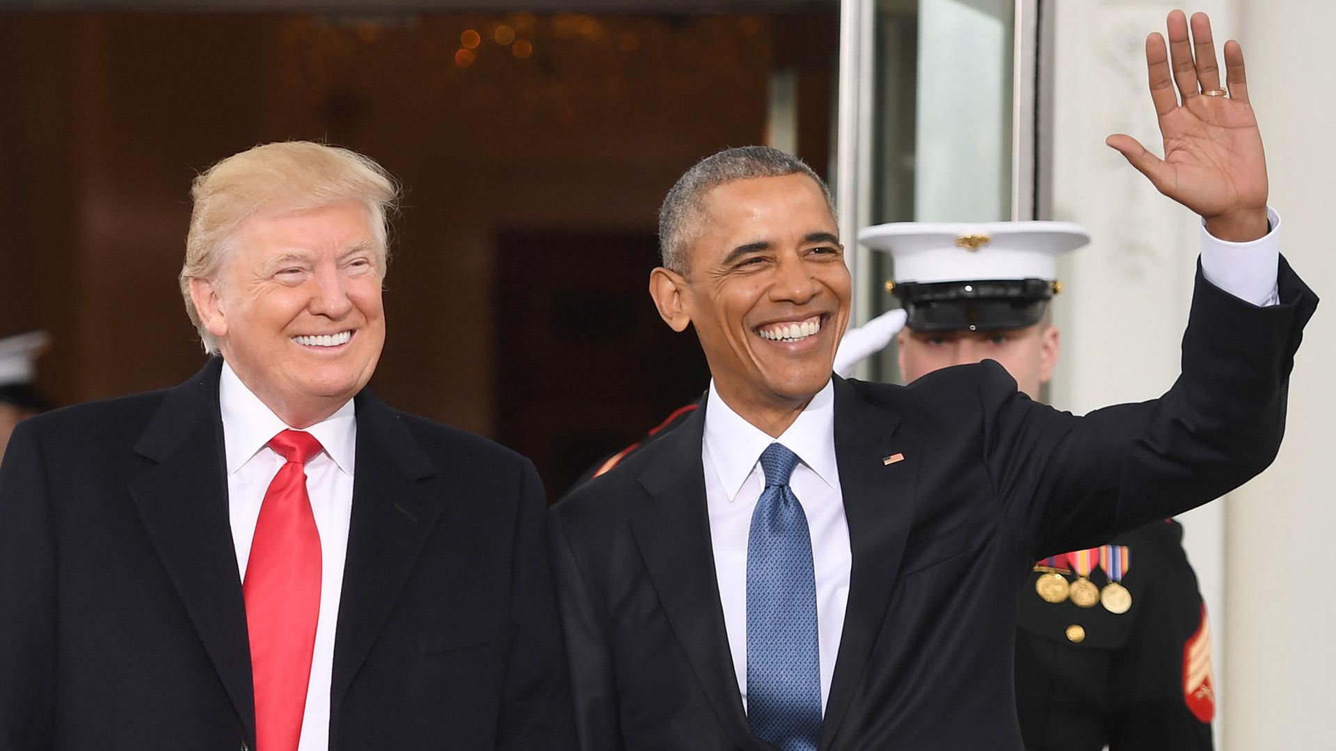 Barack Obama posa sonriente para la foto con su sucesor, Donald Trump