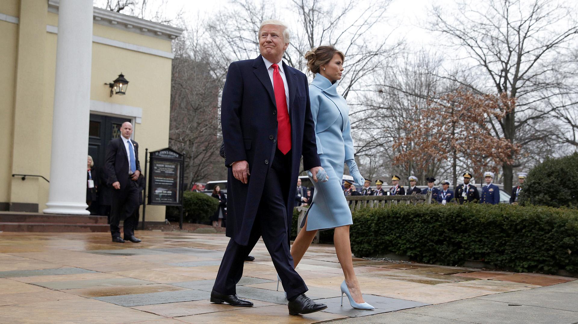 Donald y Melania Trump llegan a la Casa Blanca