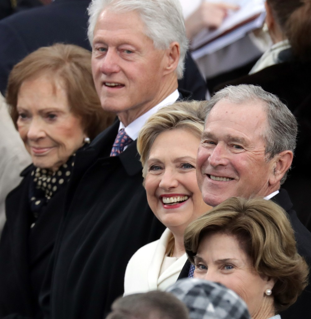 Los matrimonios Bush y Clinton (Getty)