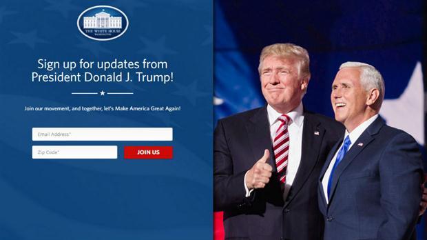 La nueva portada de la web de la Casa Blanca