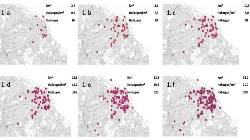 evolución en la aparición de escorpiones en la Ciudad, año por año.