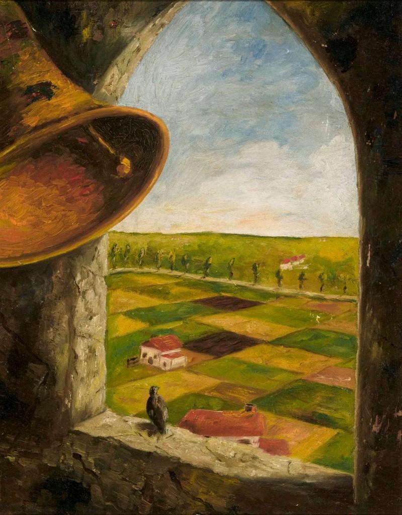 Uno de los cuadros de Heinz Geiringer
