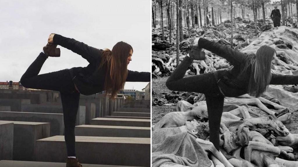 Las posiciones de yoga son cada vez más comunes en las redes sociales