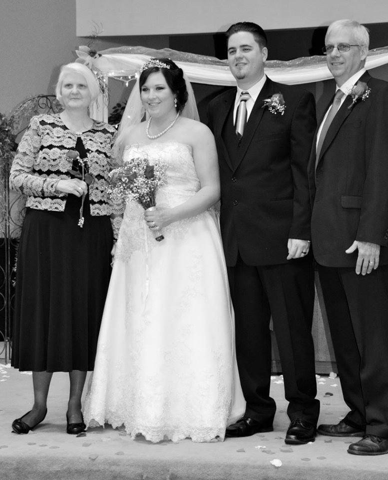 Scott Koteskey, el día de su boda