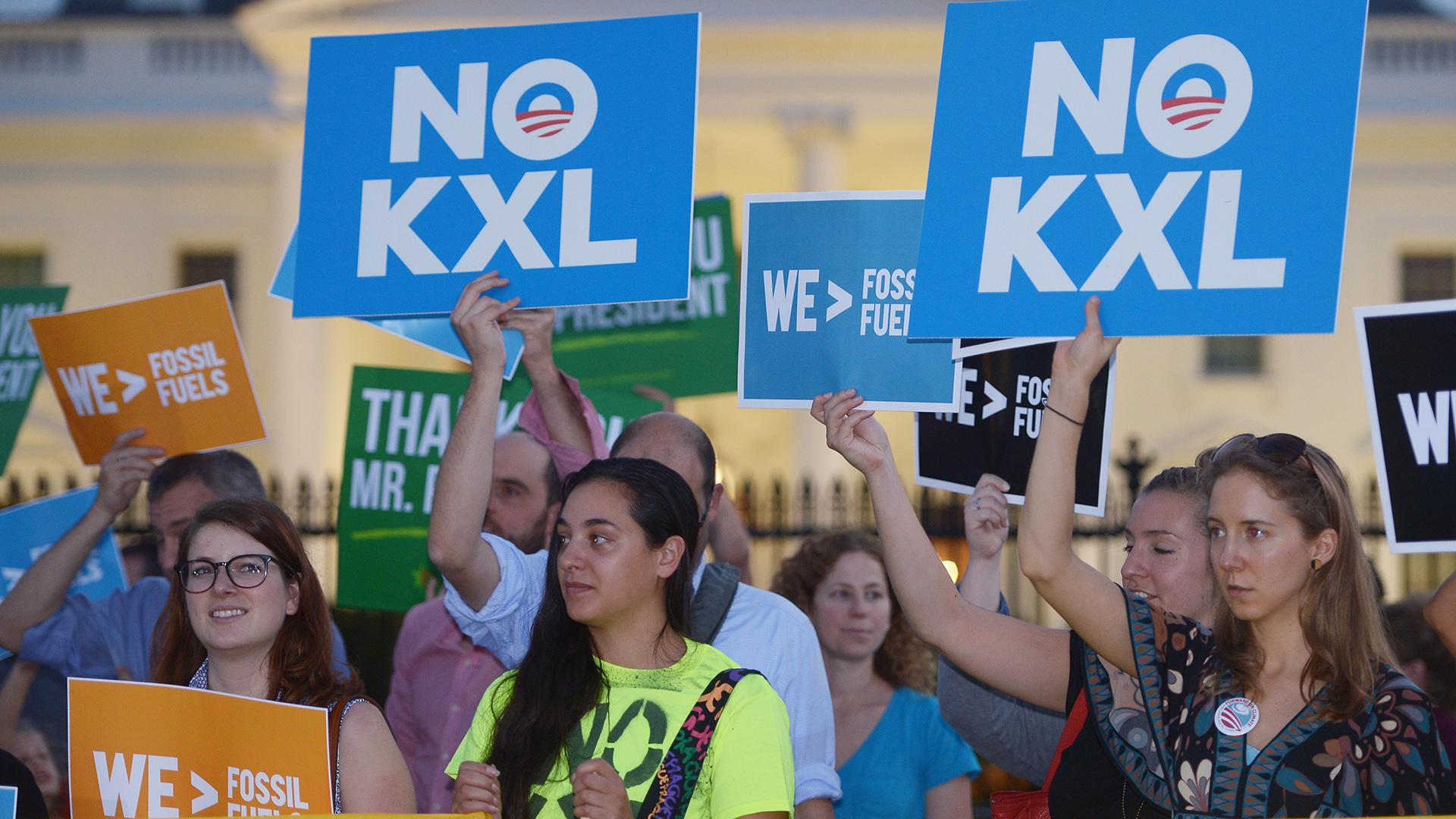Protestas de ambientalistas contra el oleoducto Keystone (AFP)