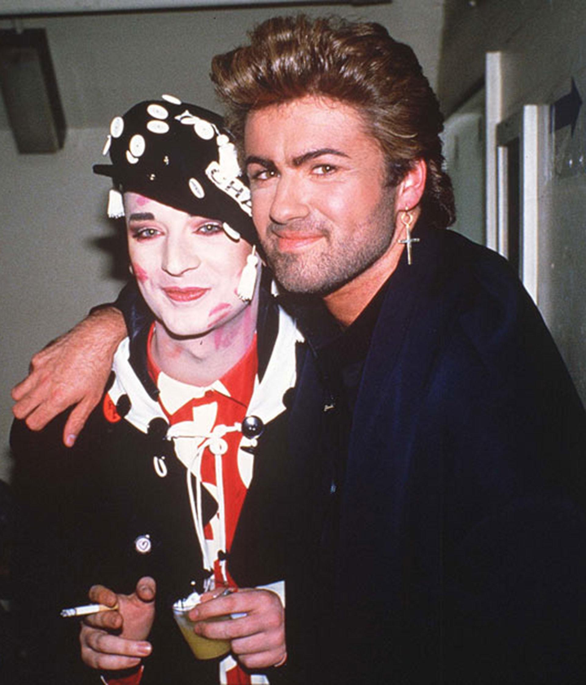 Boy George y George Michael fueros grandes amigos tras una gran rivalidad en el plano musical