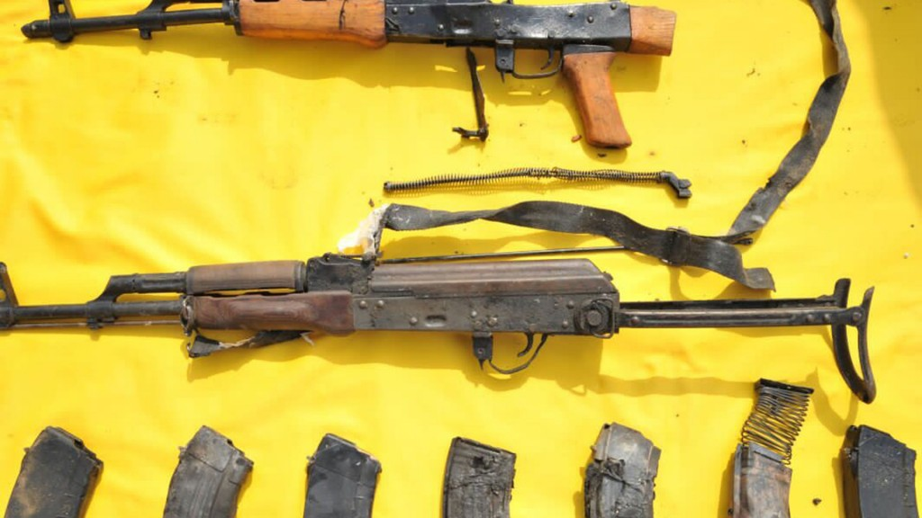 Las autoridades sauditas incautaron armas