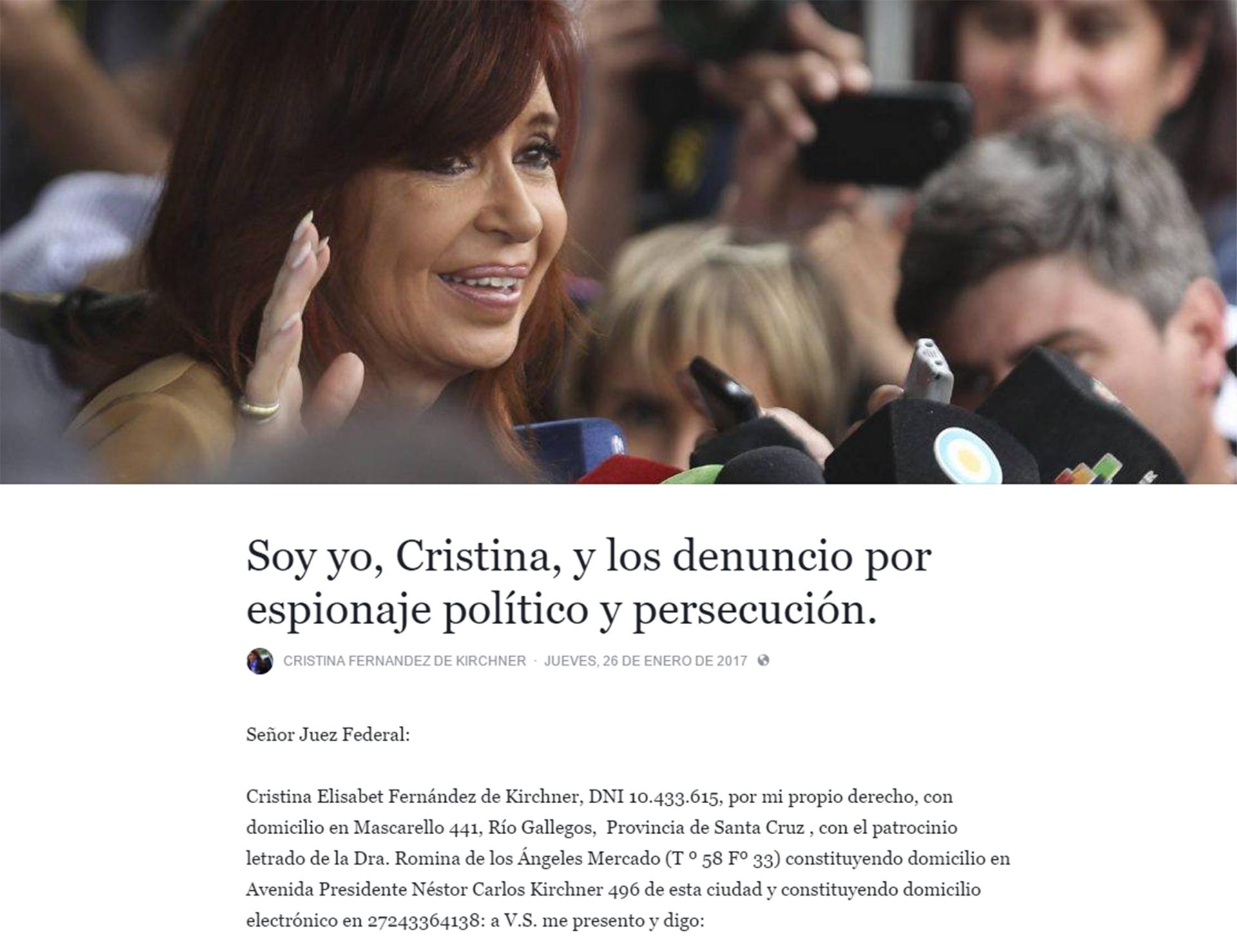 Cristina face SF
