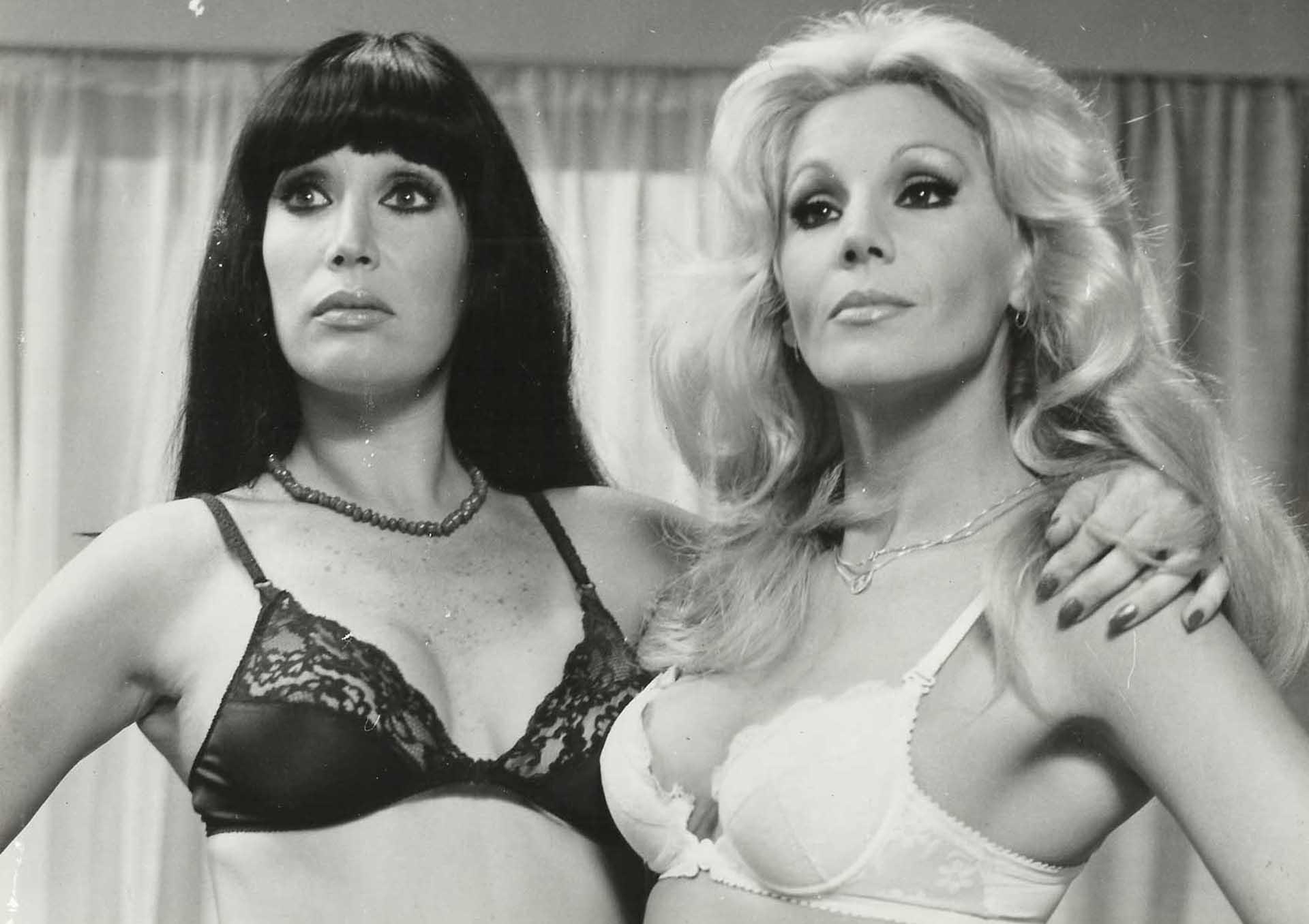 Junto con Moria Casán también estuvo en la pantalla grande. Ambas fueron íconos sexuales de la década de los 80