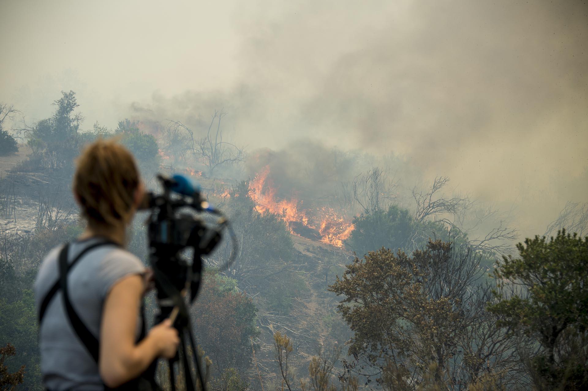La presidente Bachelet decretó estado de excepción constitucional en las regiones de O'Higgins, el Maule y Biobío, donde más de 4.000 personas combaten el fuego, entre bomberos voluntarios, brigadistas (bomberos forestales), carabineros, detectives, funcionarios públicos, militares y civiles