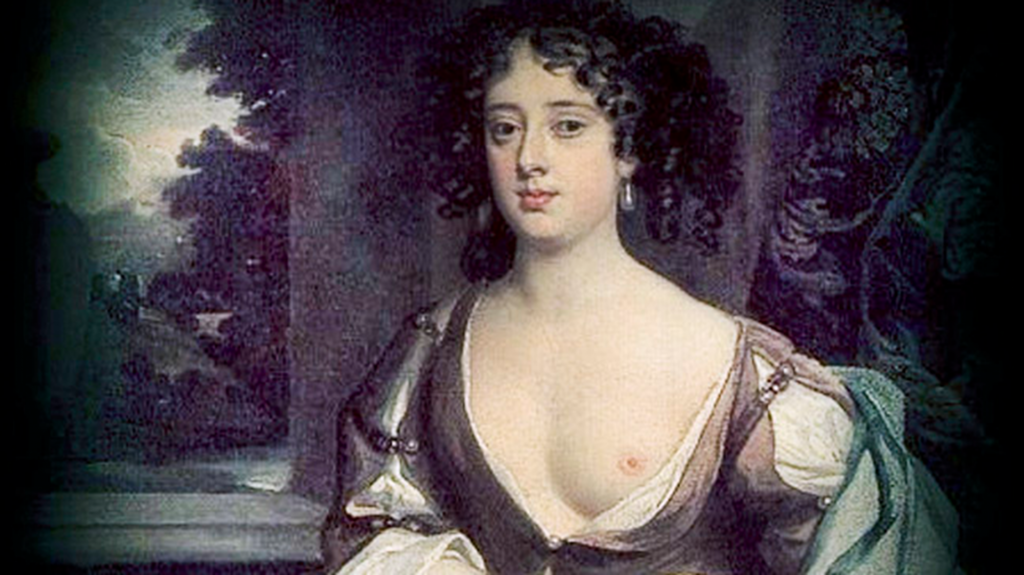 Retrato de una cortesana de la época