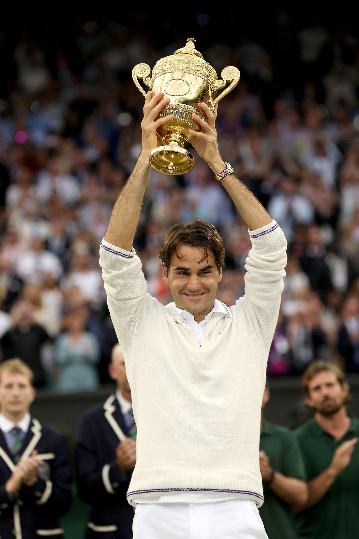 En 2012, iba a ser su última victoria en un Grand Slam. El suizo vencía a Andy Murray por 4-6, 7-5, 6-3, 6-4 en Wimbledon. Junto con el triunfo, Roger Federer volvía a recuperar el primer puesto del ranking ATP