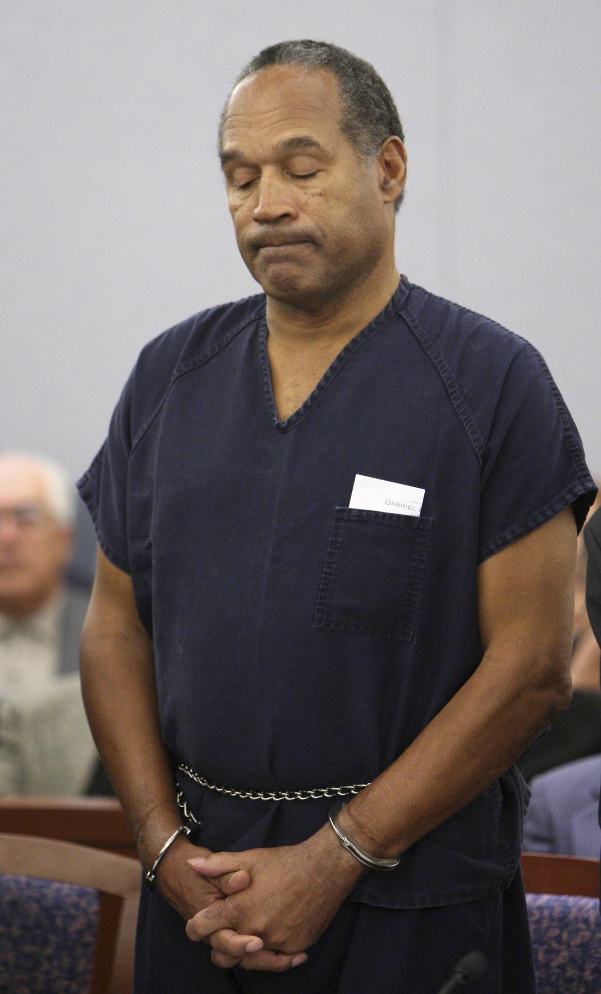 O. J. Simpson cumple una condena en Nevada por delitos no relacionados con el homicidio de su ex esposa. Podría salir en libertad condicional durante 2017