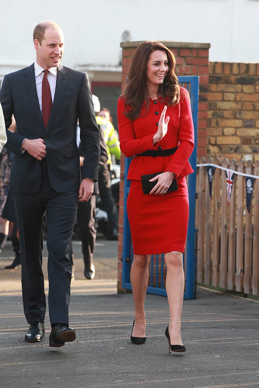 El príncipe Guillermo de Inglaterra y su esposa Catalina arriban a un evento solidario en Londres, que se llevó a cabo en el marco de la Semana de la Salud Mental Infantil