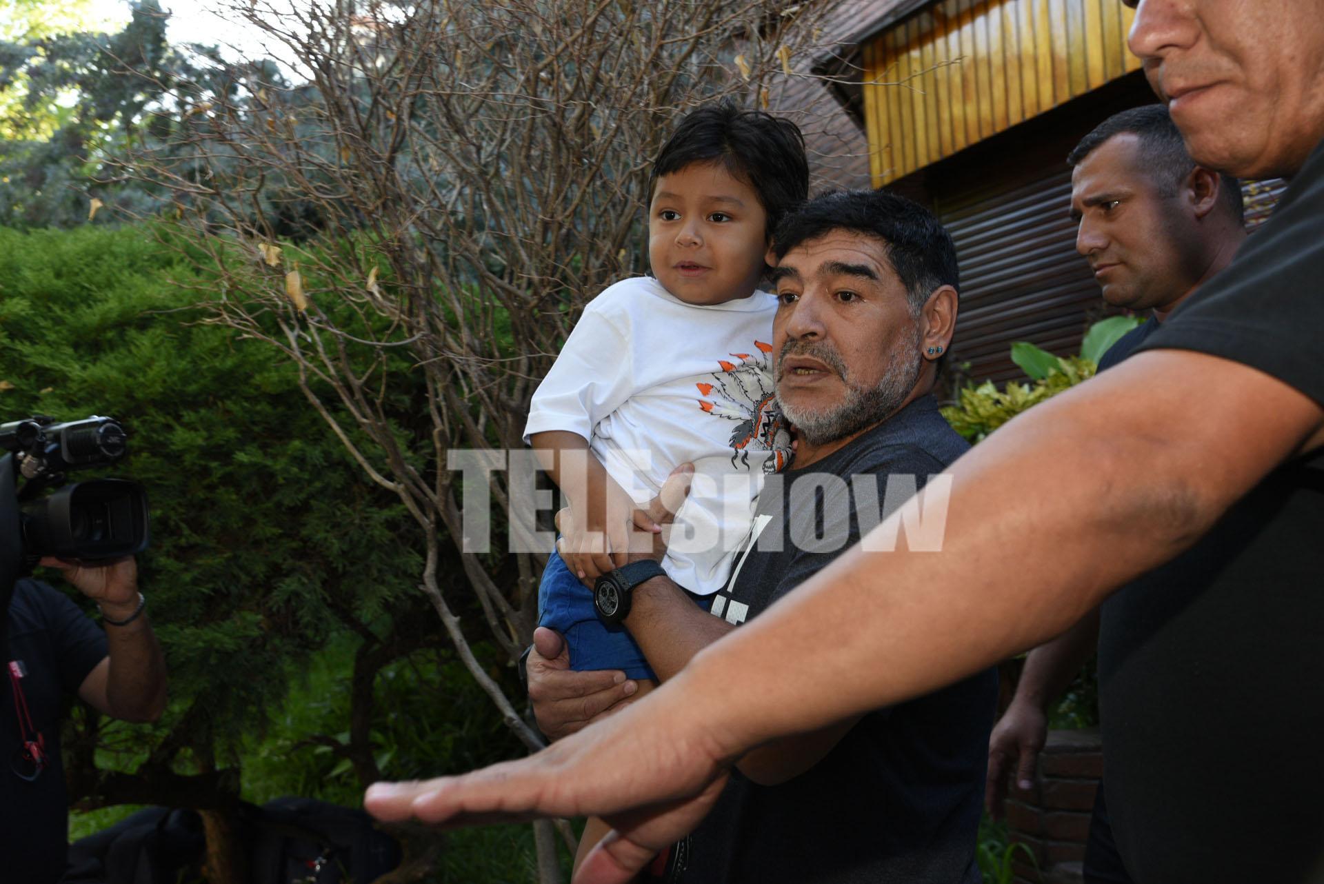 Diego Maradona y Dieguito Fernando