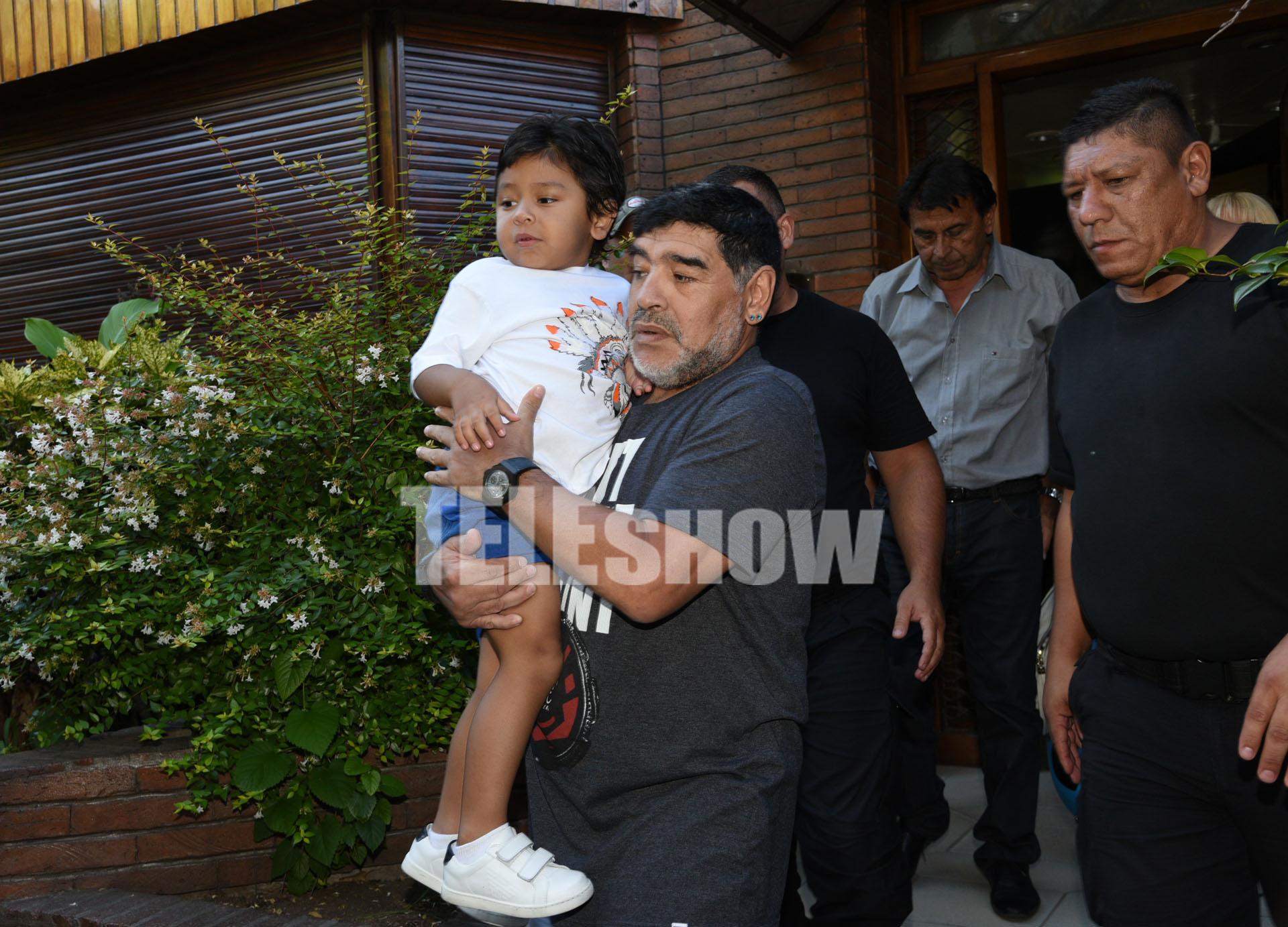 Ojeda no estuvo presente en el encuentro, llevada a cabo en la casa de Maradona de Villa Devoto