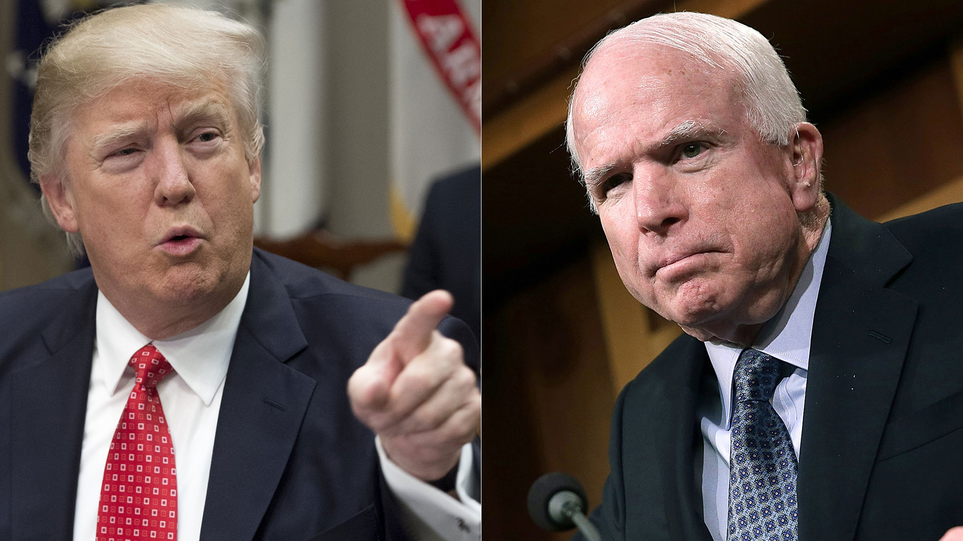 Donald Trump y John McCain (Getty – AFP)