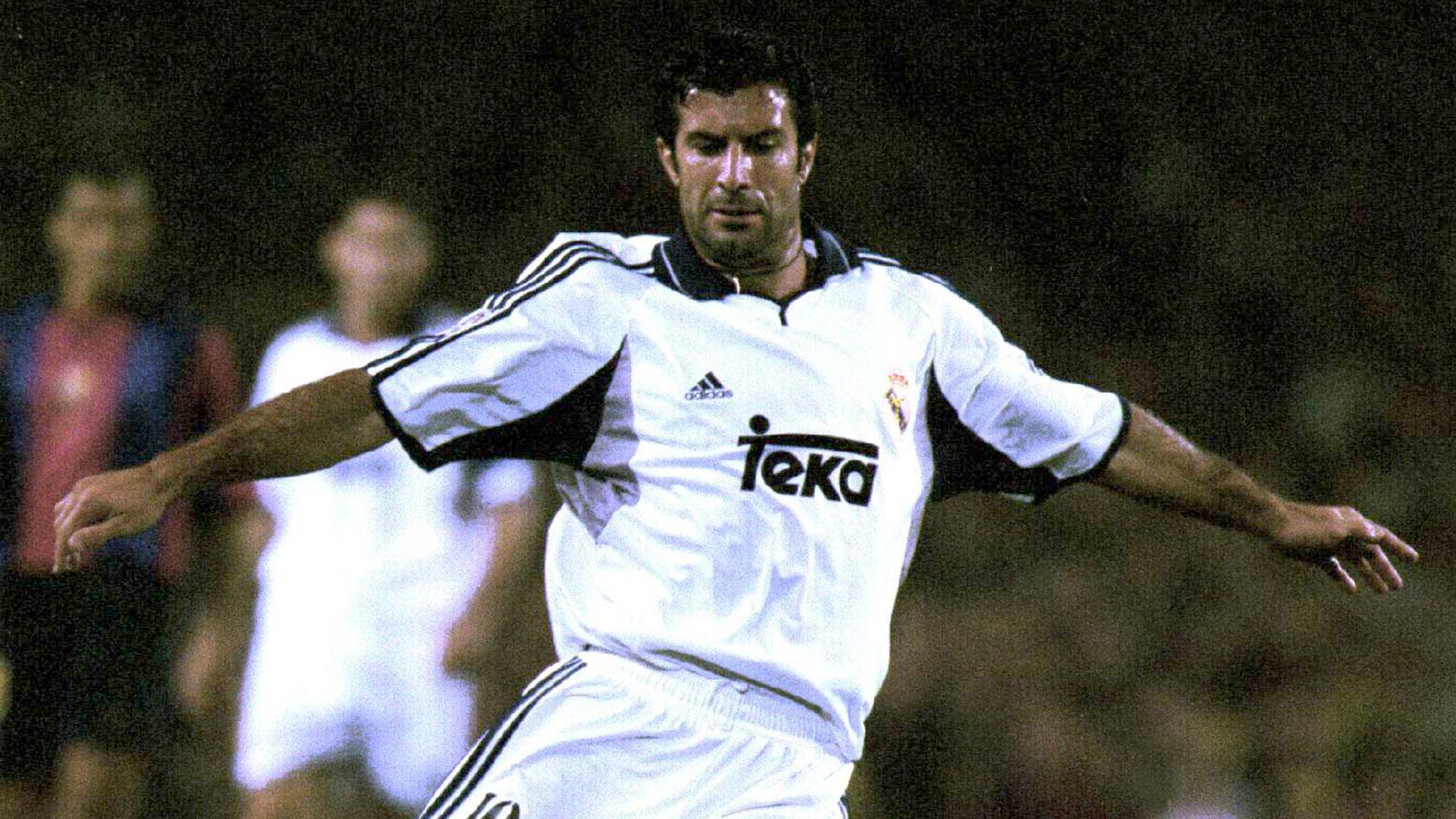 Figó jugó en el Real Madrid entre 2000 y 2005 y ganó 4 títulos (Getty Images)