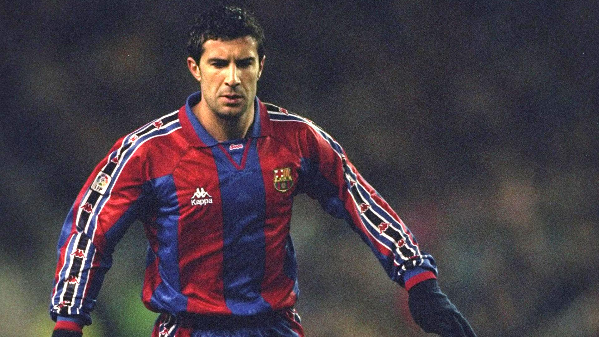 Figo ganó 5 títulos con el Barcelona (Getty Images)