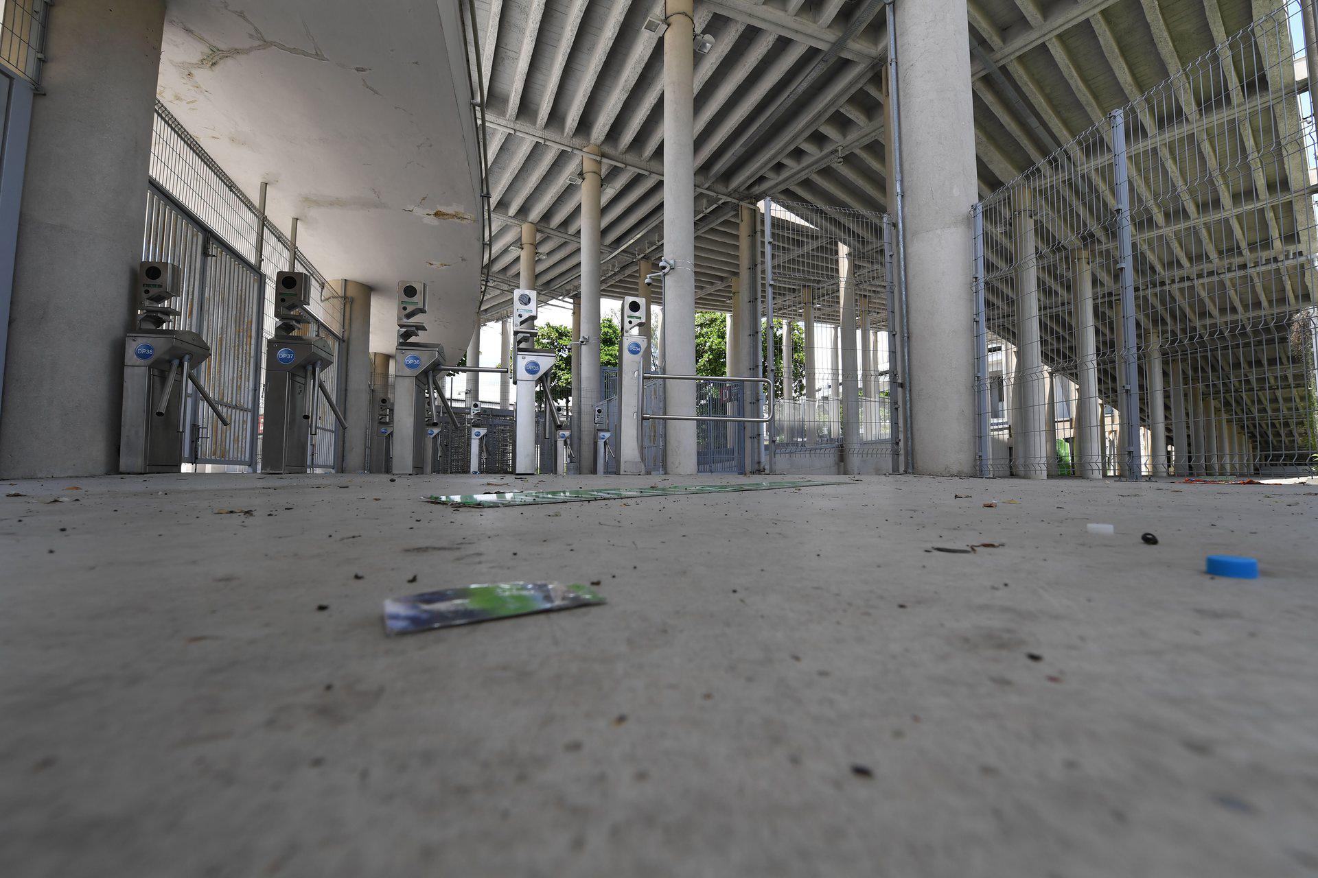 Por varias facturas impagas, cortaron el suministro eléctrico del estadio (AFP)