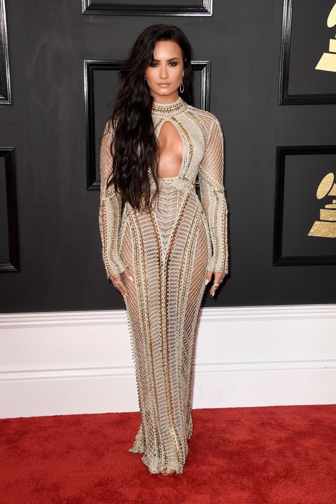 Demi Lovato, sensual en los Grammys (Frazer Harrison/Getty Images)