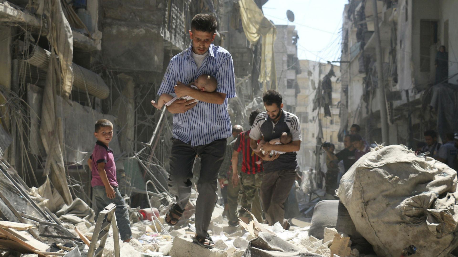 Una de las fotos más emblemáticas del conflicto sirio.