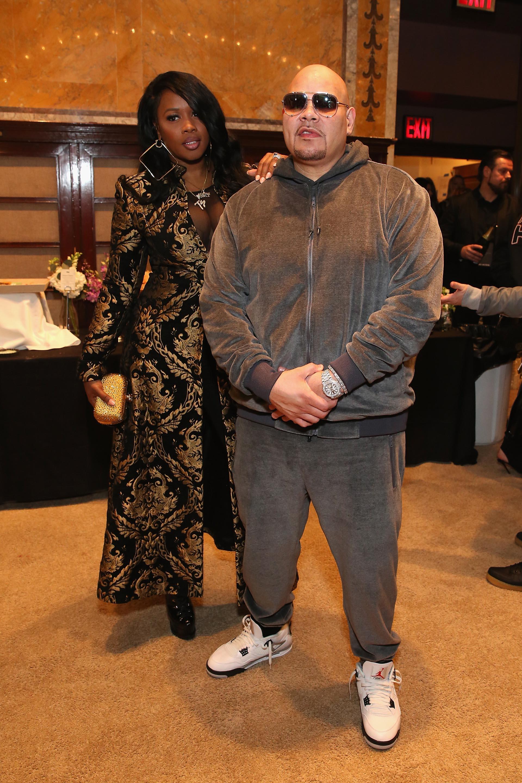 El fabuloso tapado de Remy Ma no se lució al lado del estilo deportivo de Fat Joe /// Fotos: Getty Images