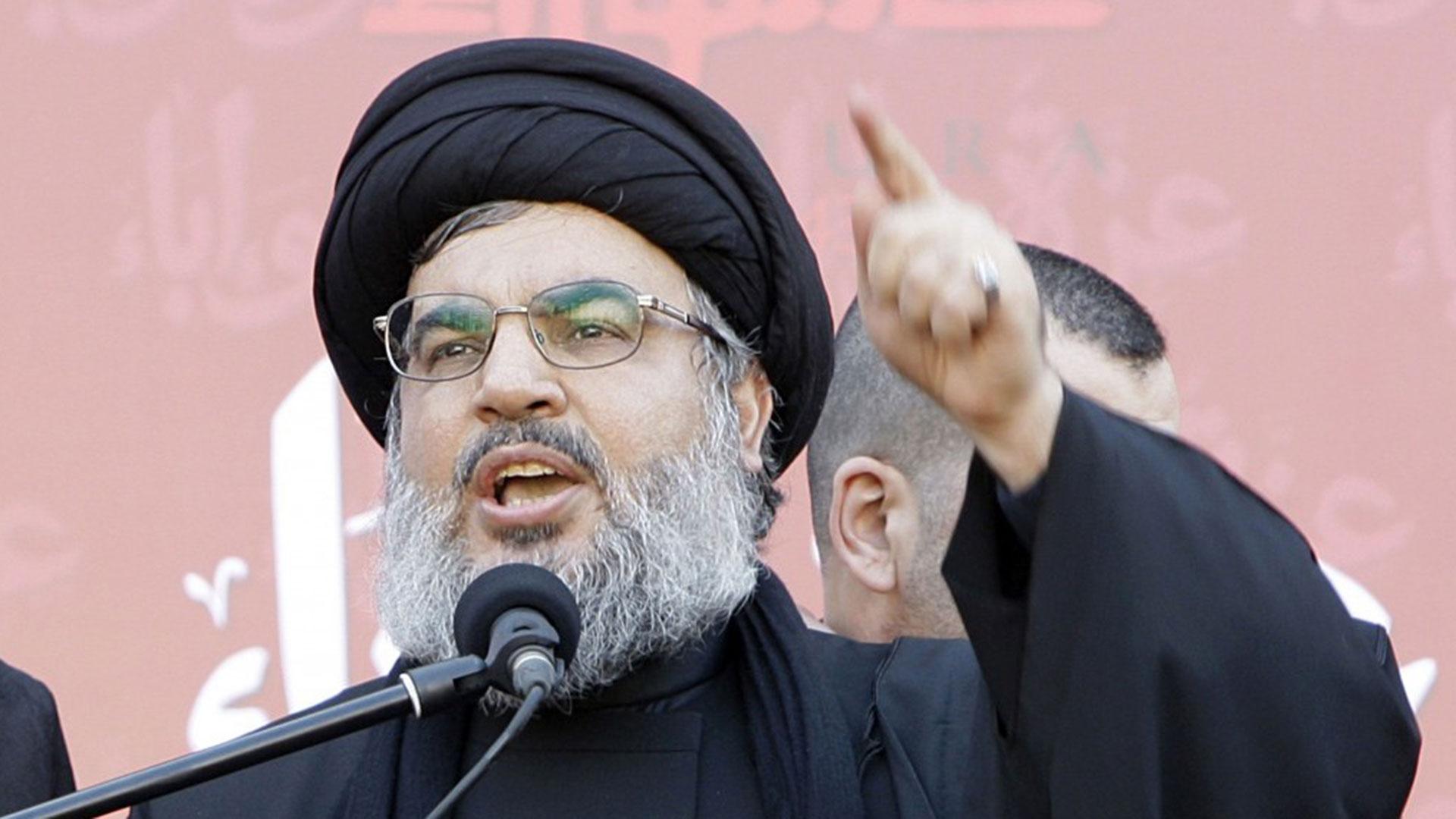 El jefe de Hezbollah, Sayyed Hassan Nasrallah.