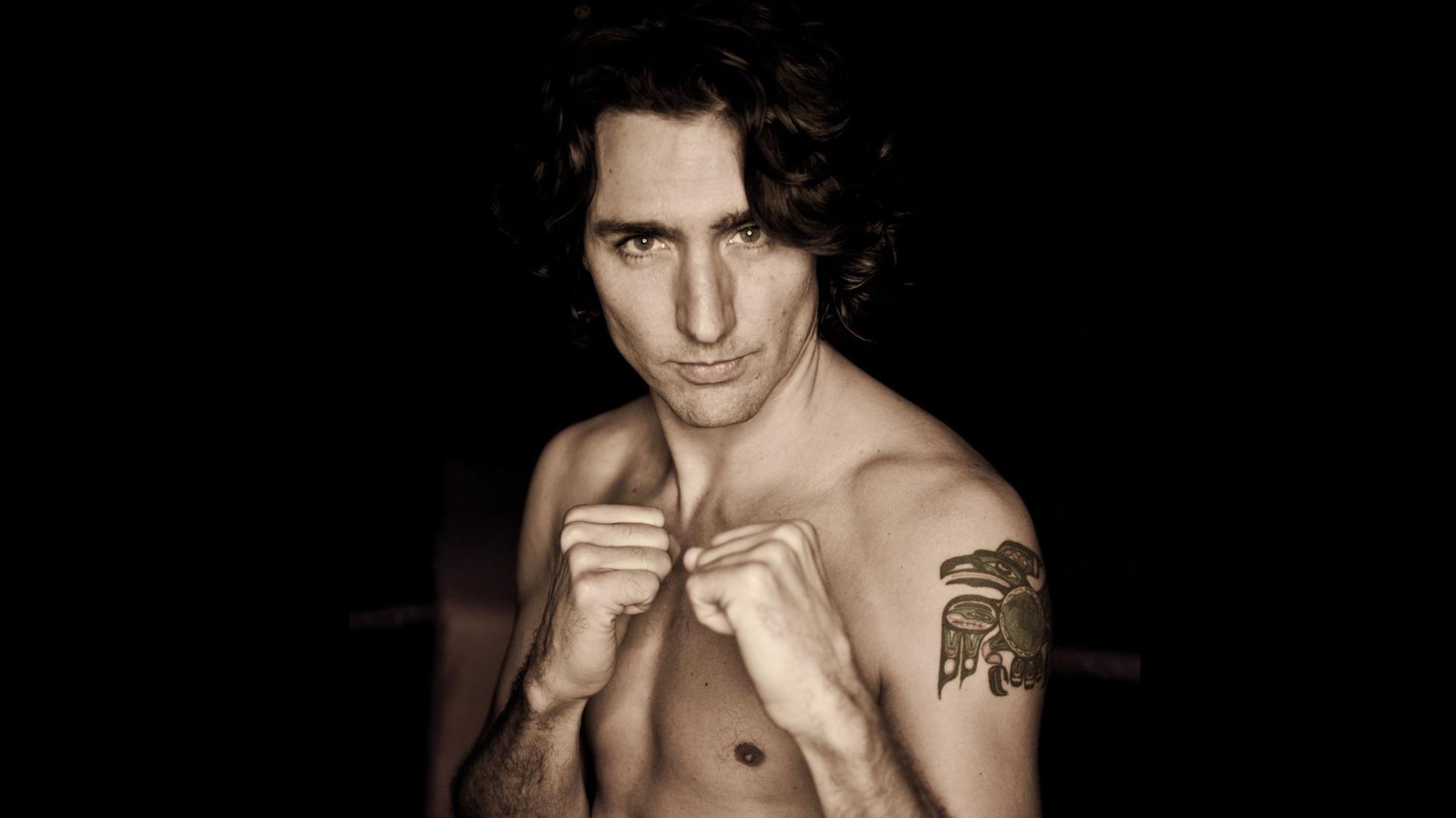 Justin Trudeau posa sin ropa en una sesión de fotos antes de ser primer ministro