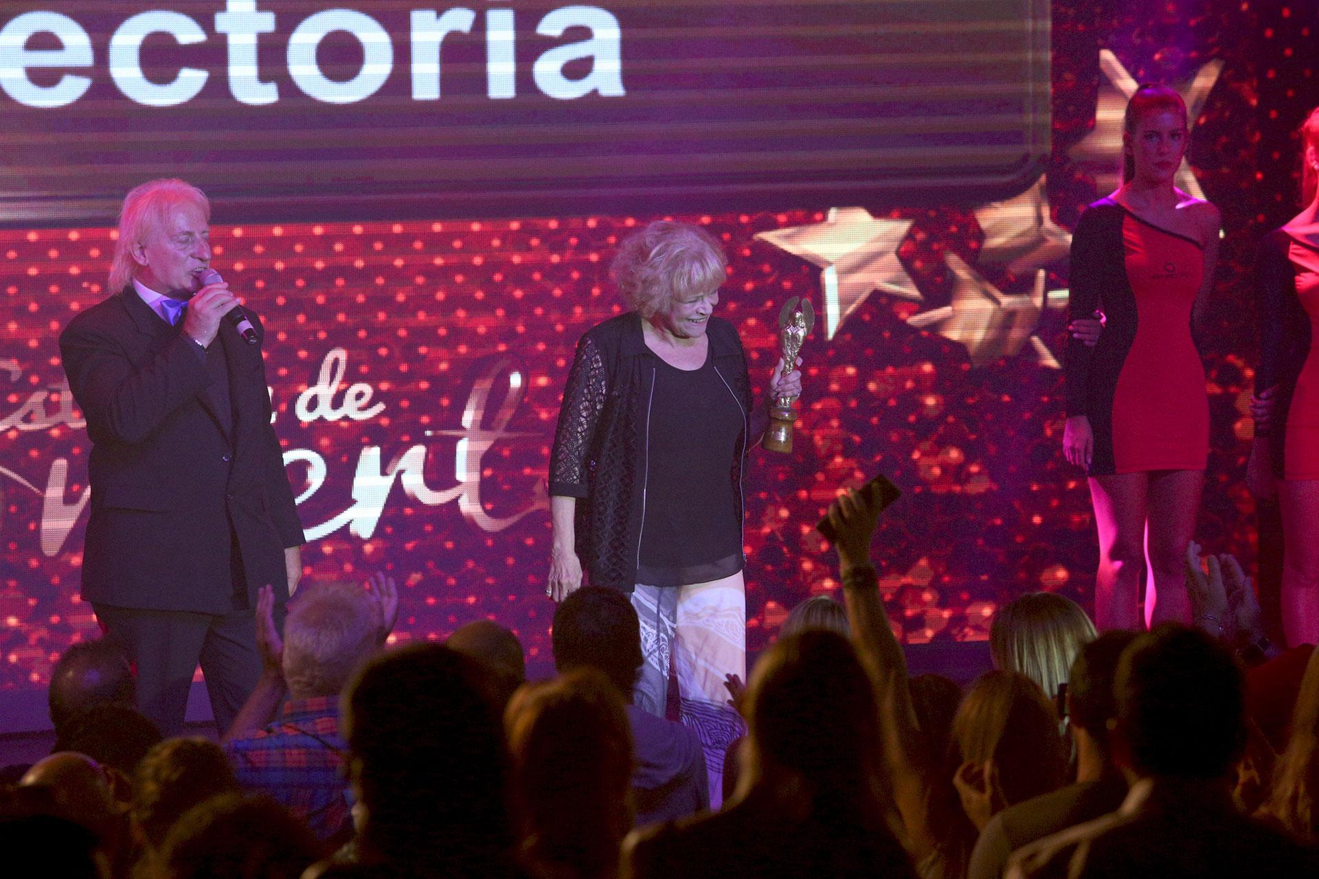 María Rosa Fugazot fue premiada en el rubro Mejor Actriz. También la reconocieron por su extensa trayectoria