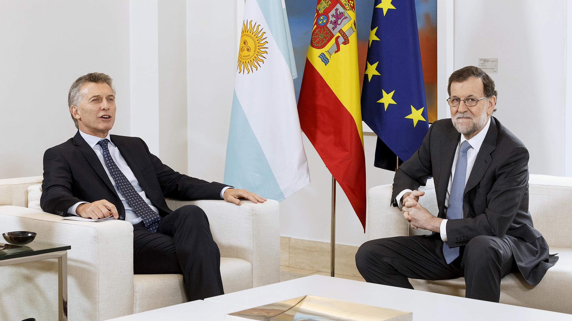 Macri y Rajoy, reunidos en febrero del año pasado en Madrid.