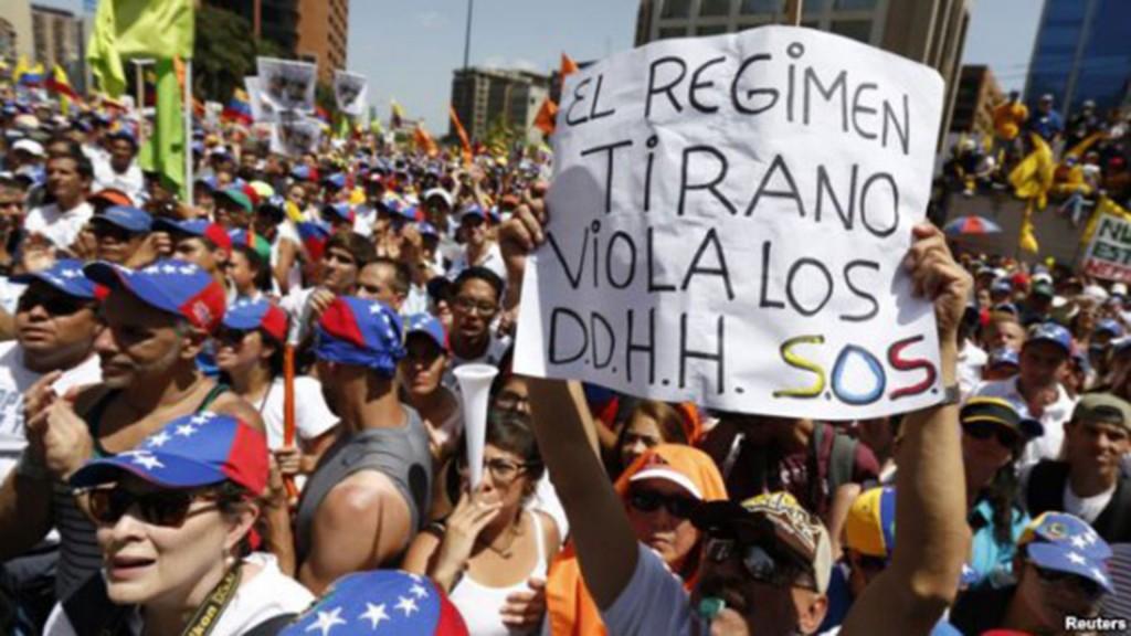Protestas de venezolanos contra el régimen de Nicolás Maduro