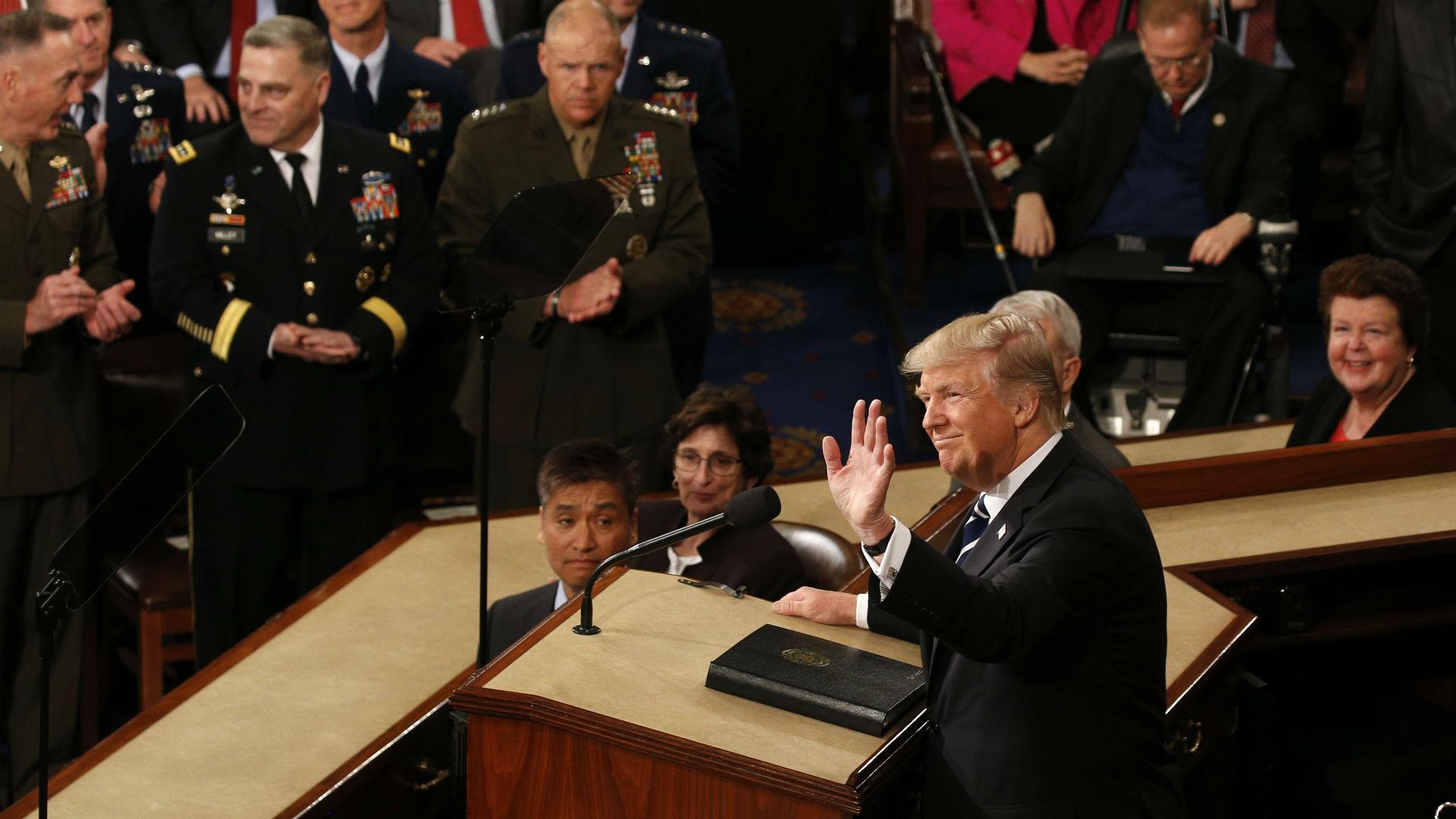 Donald Trump hablará el martes en el Congreso de los EEUU