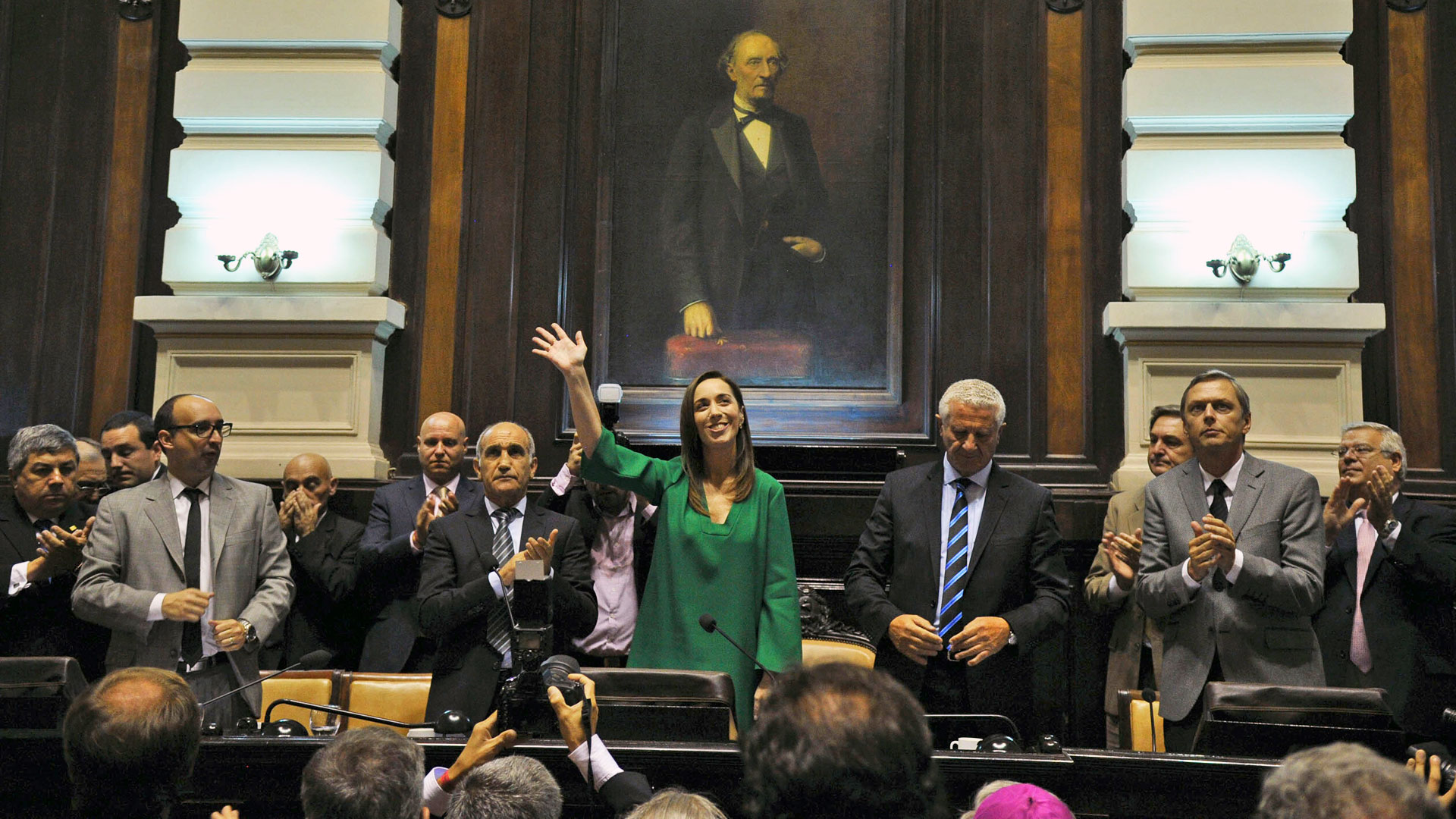 María Eugenia Vidal en la Legislatura bonaerense.