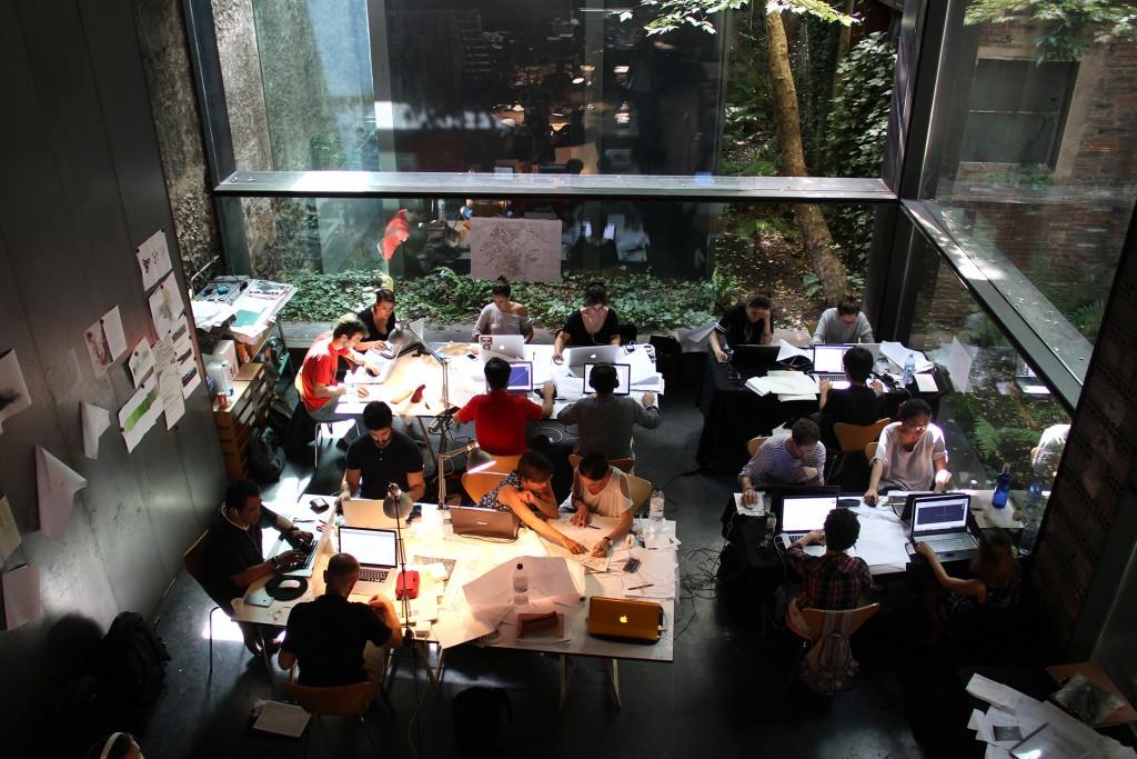 El lugar de trabajo, durante los talleres de verano