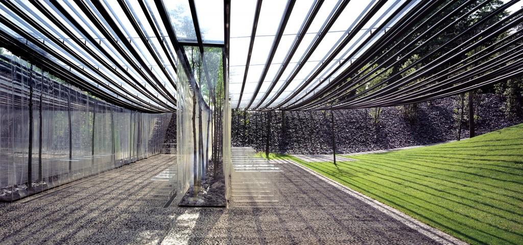 El techo translúcido, visto desde la entrada