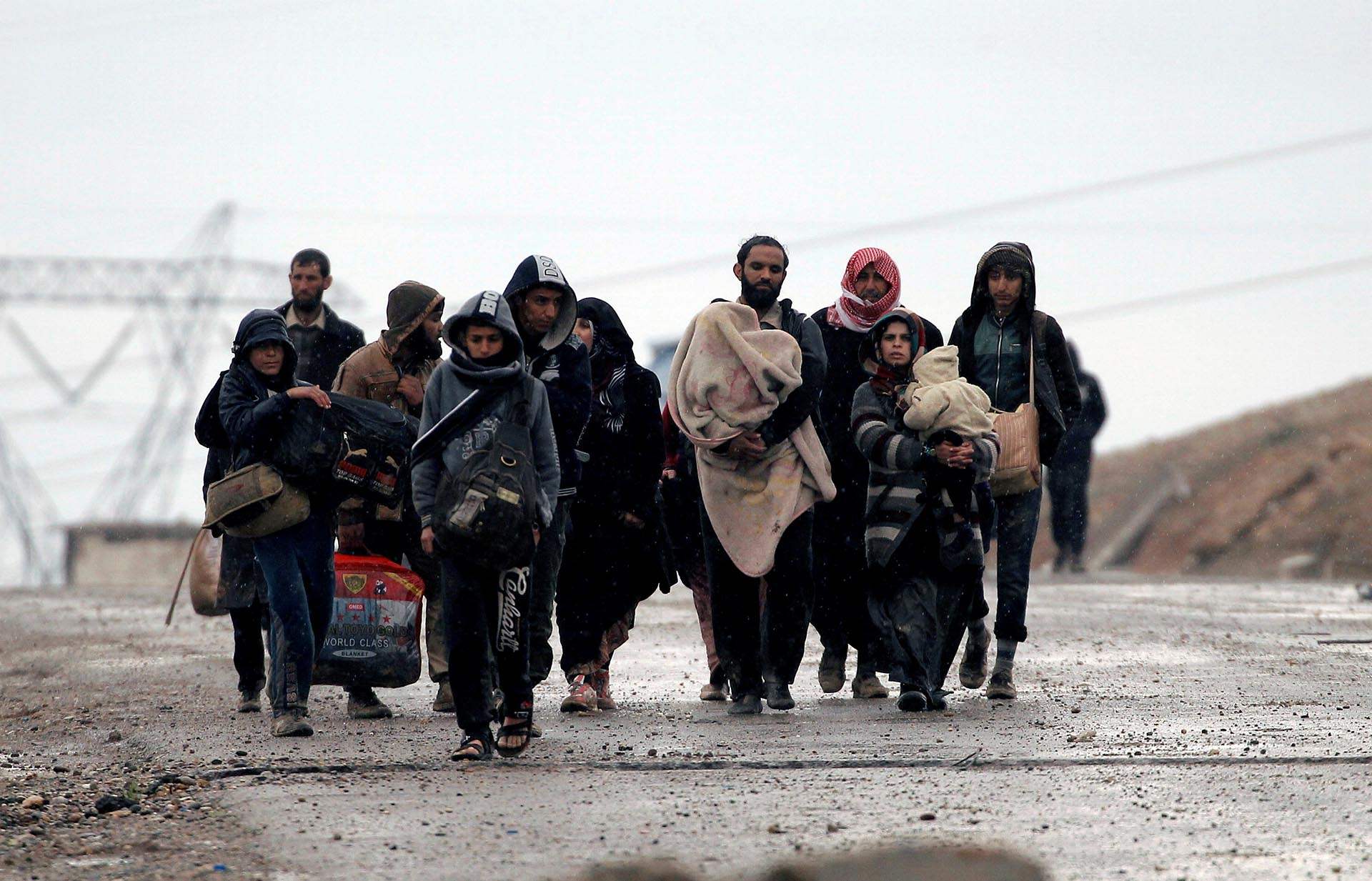 Hasta el momento cerca de 45.000 personas huyeron de Mosul