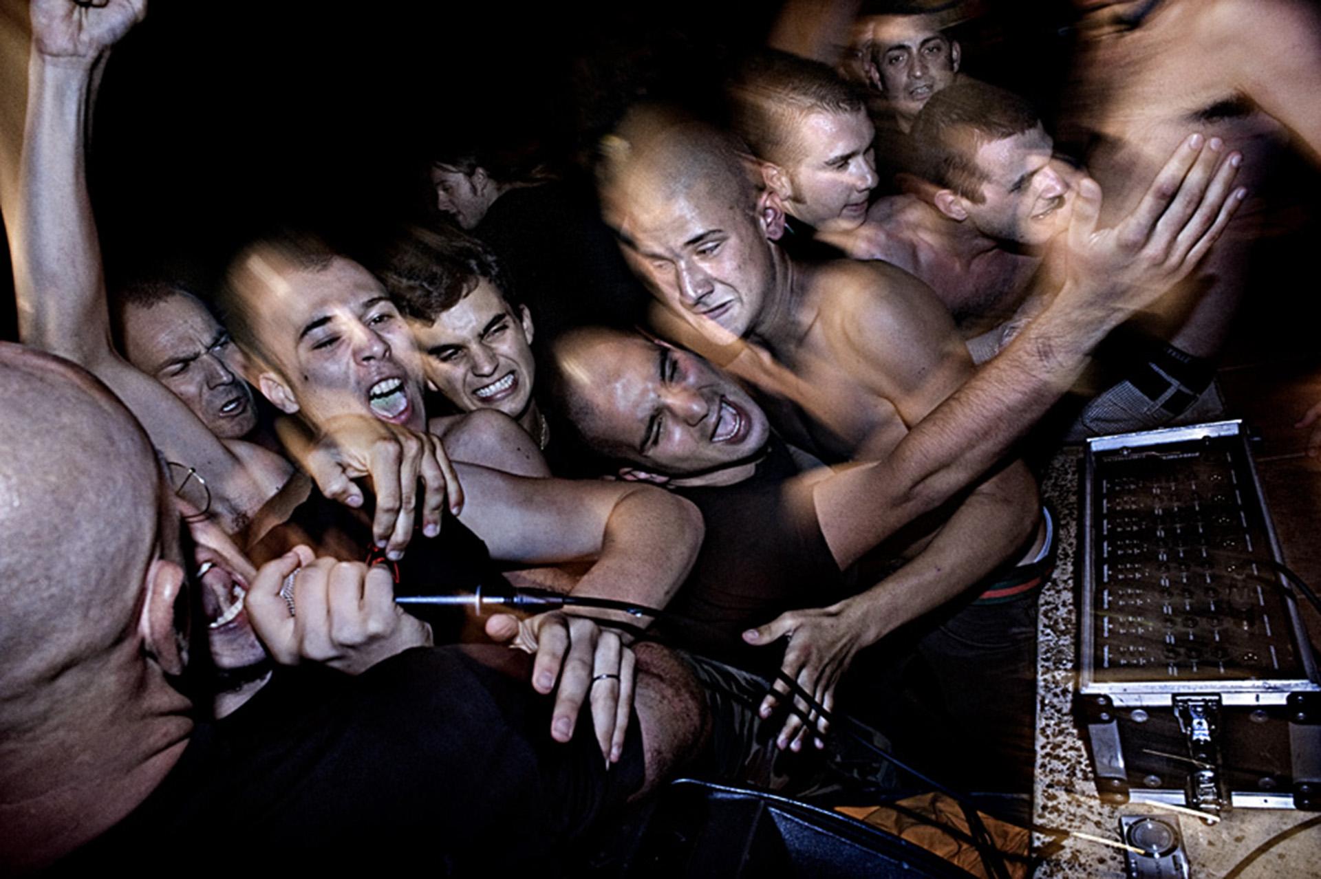 Fascitas en un concierto de rock neonazi en Padova, Italia