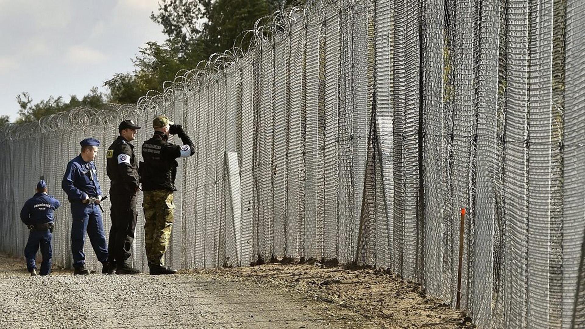 La valla en la frontera serbia-húngara (AP)