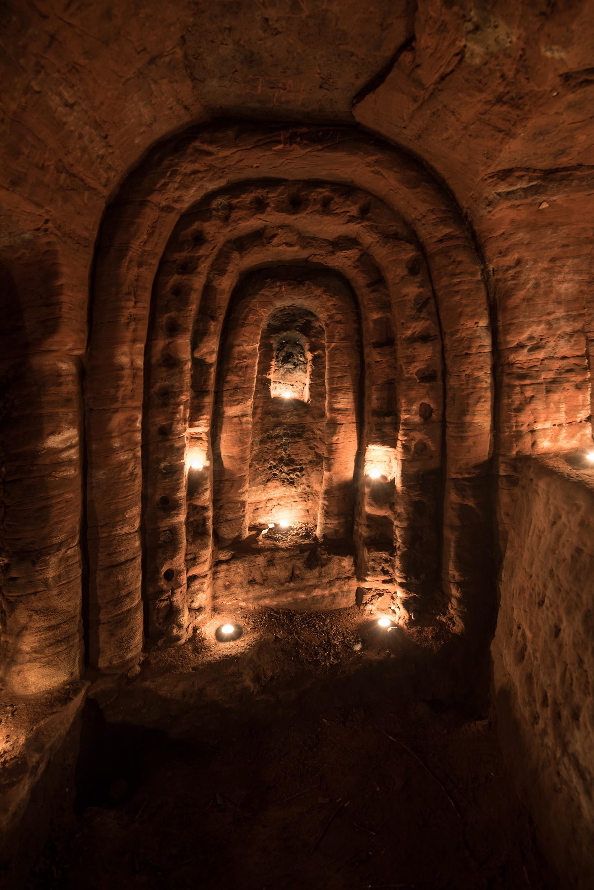 El lugar fue descubierto gracias a la cueva de un conejo en una granja de Shropshire, Inglaterra (Michael Scott/Caters News/The Grosby Group)