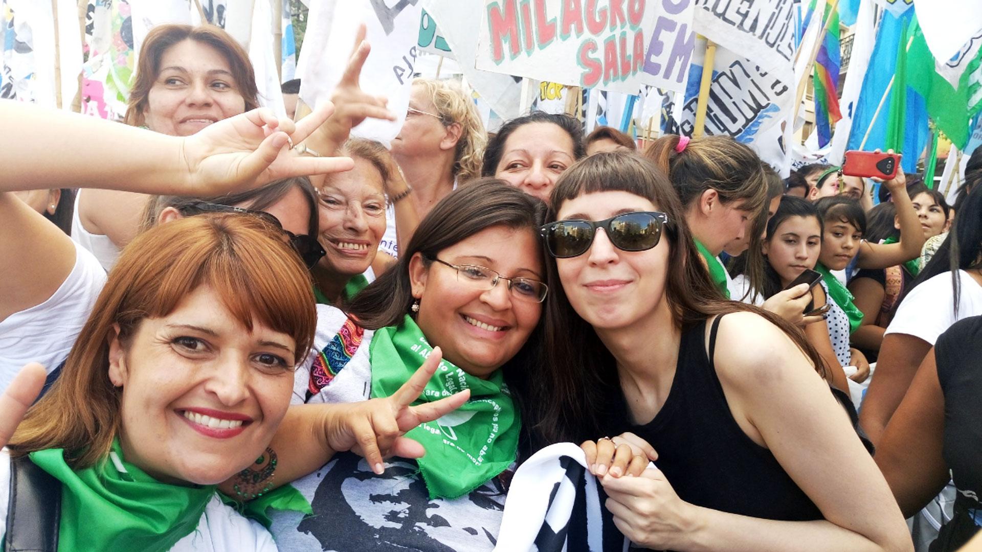 Florencia Kirchner estuvo presente en la movilización (Foto: @la_campora)