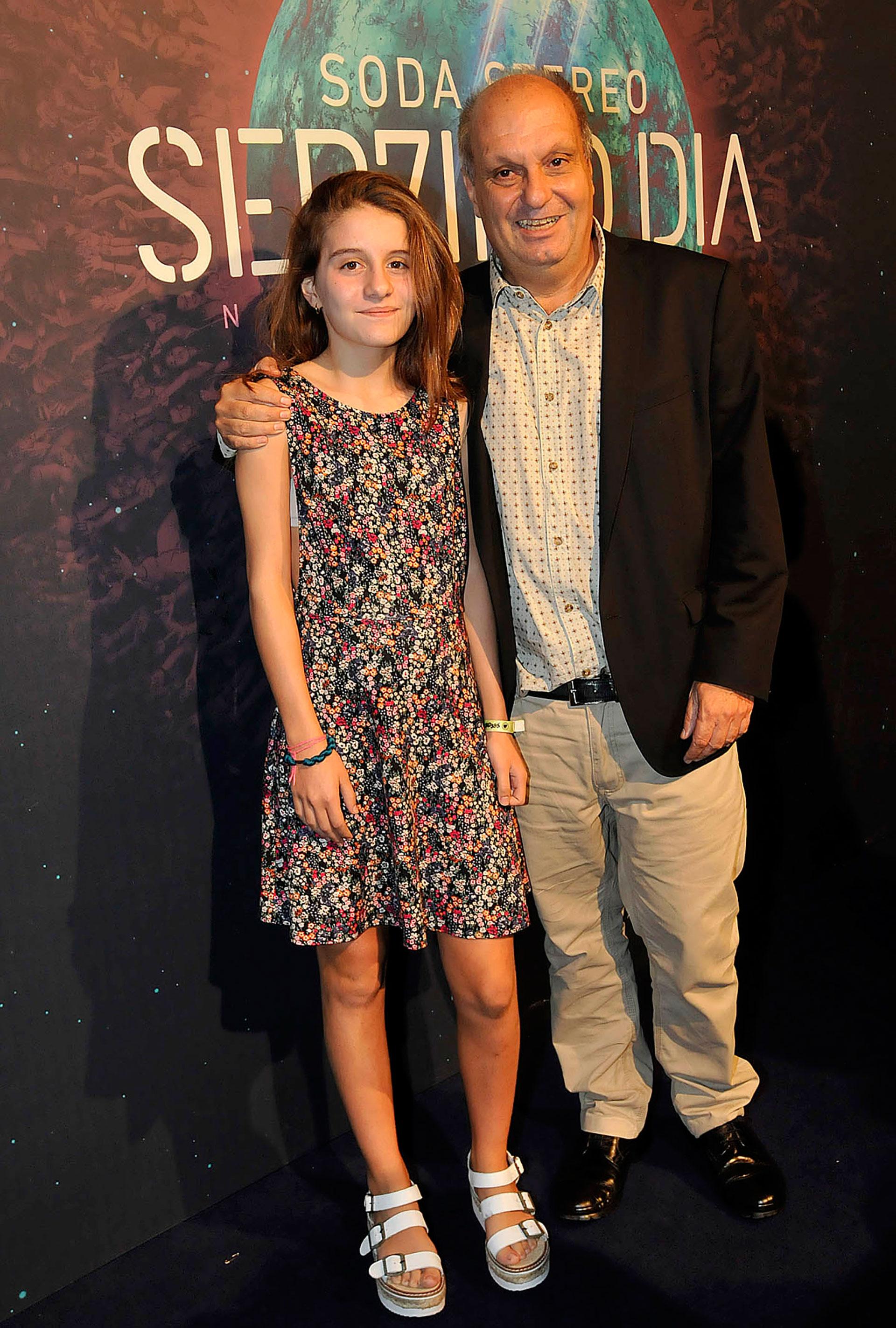 Hernán Lombardi y su hija