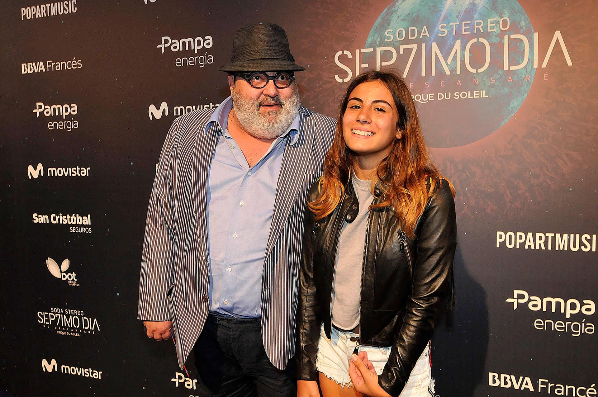 Jorge Lanata y su hija