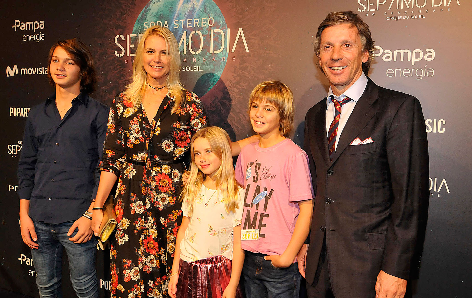 Valeria-Maza, con sus hijos y su marido